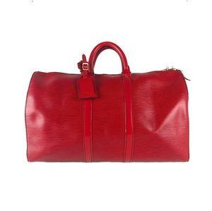 Louis Vuitton Epi Leather Keepall Duffle Bag